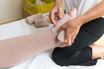 Bandage compressif lymphatique