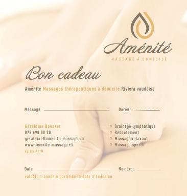 Bon cadeau massage suisse romande