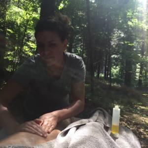 Massage en forêt